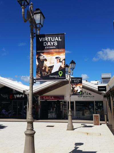 Vitual Days, communication en centre commercial