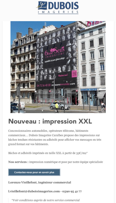 Impression XXL - Visibilité optimale