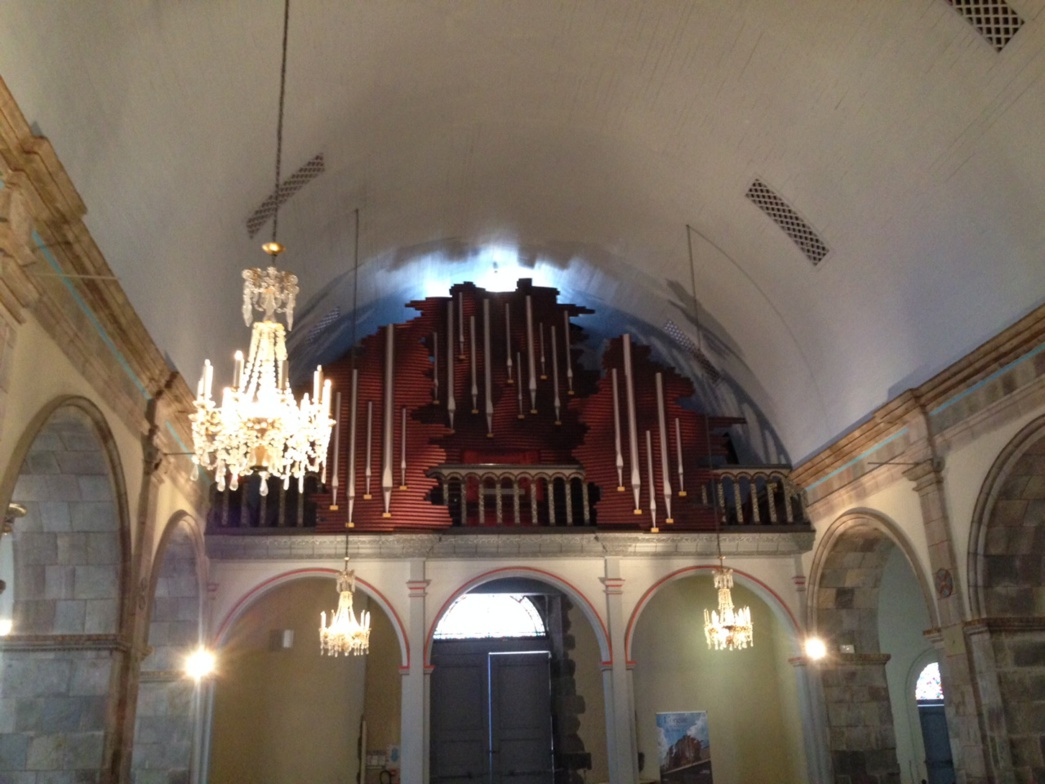 Trompe l'œil Orgue Cathedrale de Basse Terre