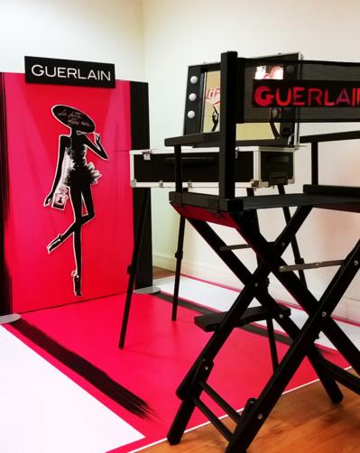 Animation en boutique, stand Guerlain