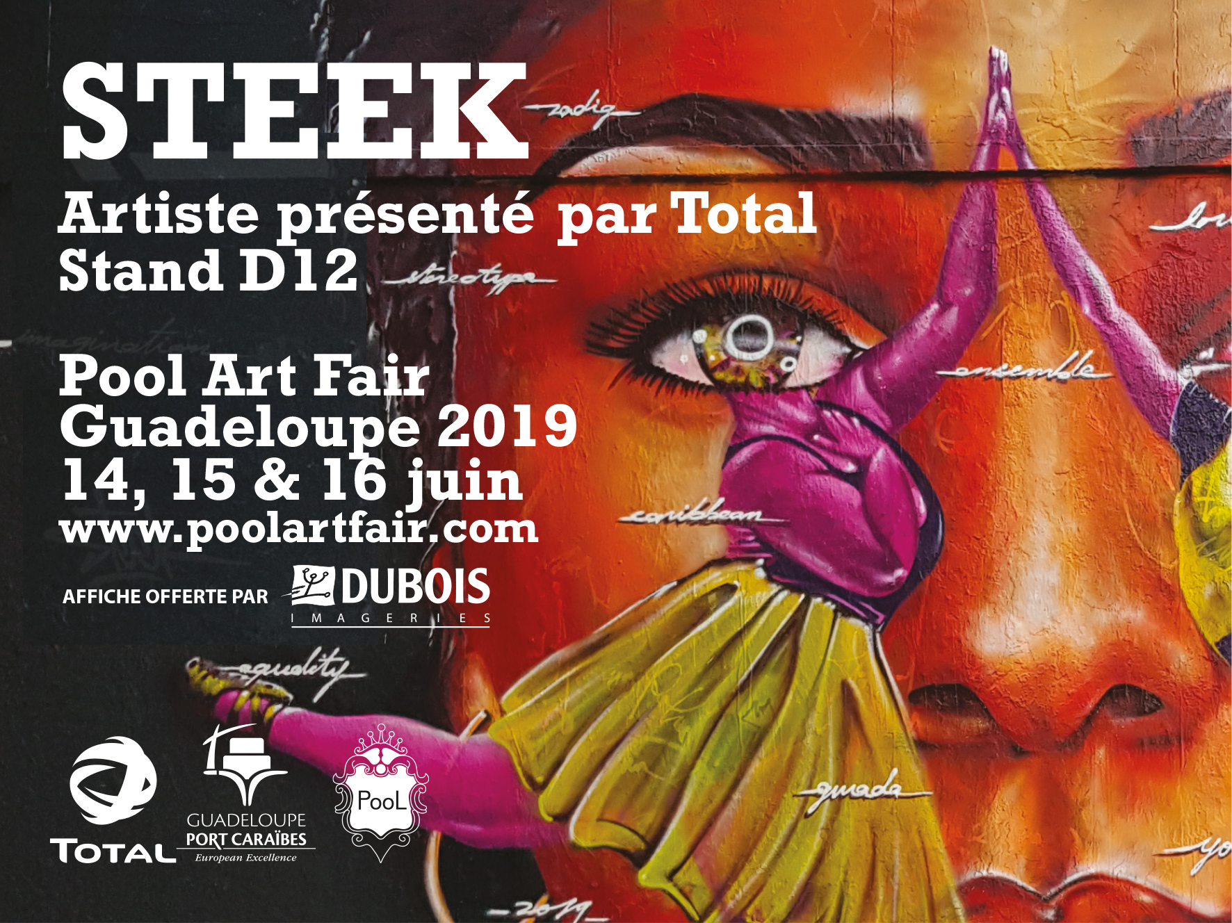 Pool Art Fair 2019, les affiches 4x3 de l'artiste Steek sont offertes