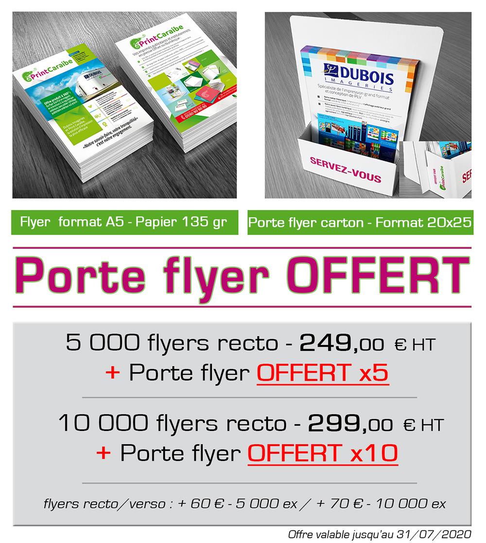 """Communication grand public, les offres cadeaux """"Flyer"""" - Le porte flyer de comptoir offert -"""