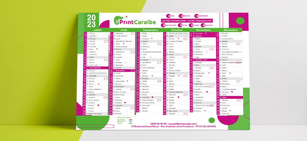 Calendrier publicitaire 2022, format A4, le meilleur impact communication / prix