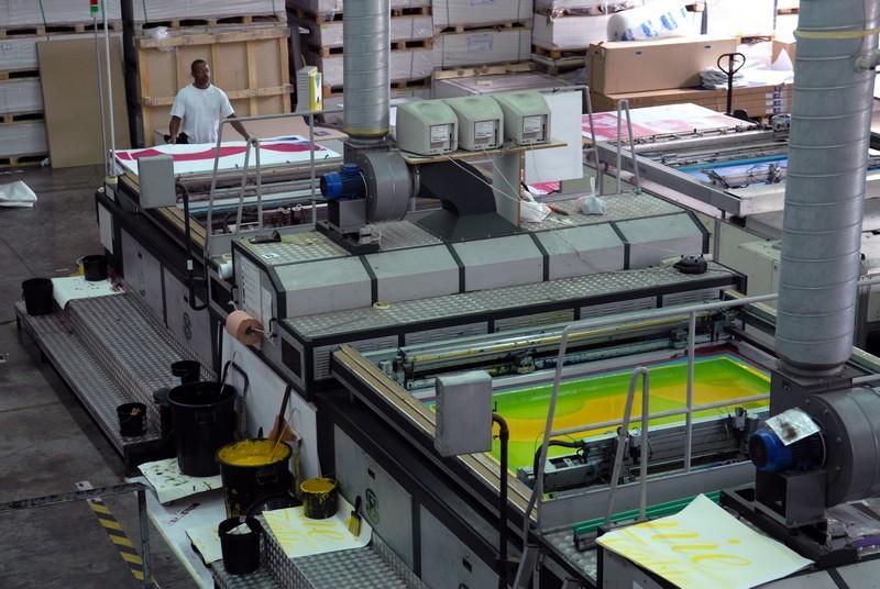 Machine 2 couleurs : Jean-Marc, opérateur impression sérigraphique