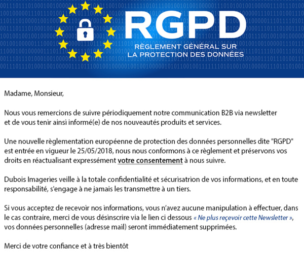 """Nouvelle règlementation européenne """"RGPD"""""""