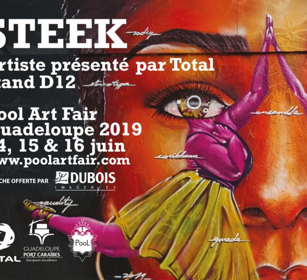 Pool Art Fair 2019, les affiches 4x3 de l'artiste Steek sont offertes
