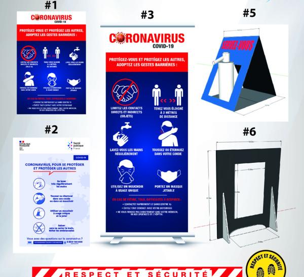 Distanciation sociale & gestes barrières : le kit de protection Covid 19 indispensable pour les établissements reçevant du public