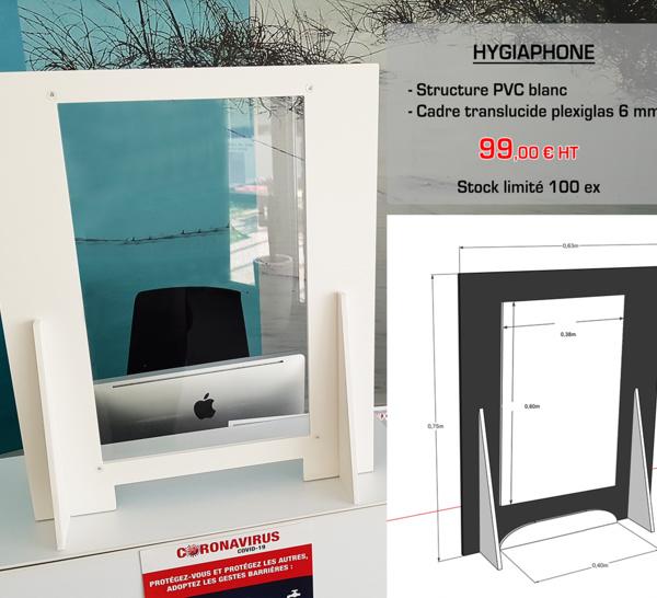 Hygiaphone, la protection efficace de votre accueil client et comptoir de caisse