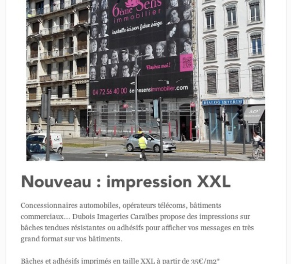 Impression XXL - Visibilité optimale