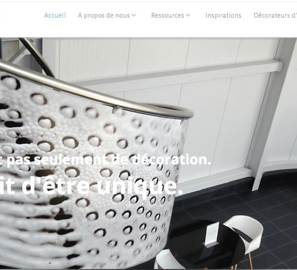 Nouveau site web dédié à la décoration professionnelle