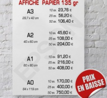 Affiche papier, baisse des prix