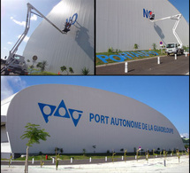 Marquage géant du Port Autonome de Guadeloupe